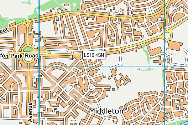 LS10 4SN map - OS VectorMap District (Ordnance Survey)