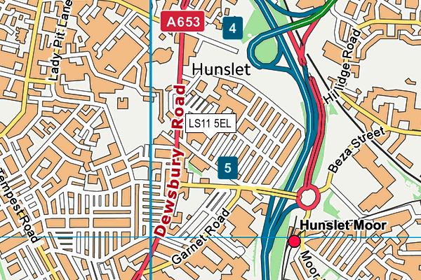 Hunslet Moor Primary School map (LS11 5EL) - OS VectorMap District (Ordnance Survey)
