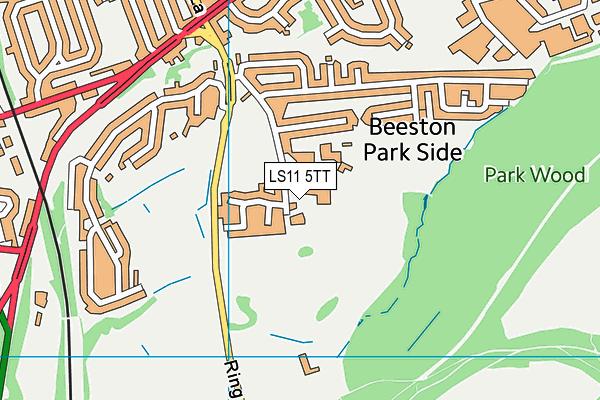 Hunslet Nelson Cricket Club map (LS11 5TT) - OS VectorMap District (Ordnance Survey)
