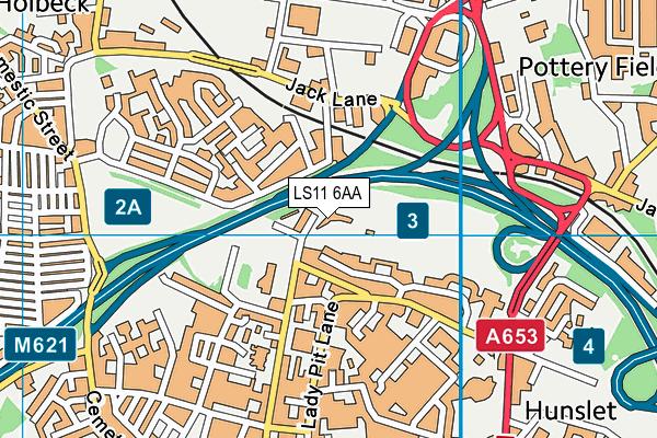 Lane End Primary School map (LS11 6AA) - OS VectorMap District (Ordnance Survey)