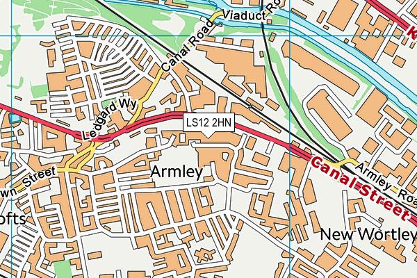 Ley Lane Recreation Ground map (LS12 2HN) - OS VectorMap District (Ordnance Survey)