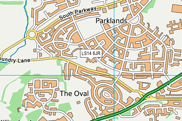 Seacroft Grange Primary School map (LS14 6JR) - OS VectorMap District (Ordnance Survey)