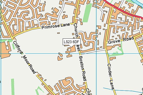 St John's Catholic School for the Deaf (Boston Spa) map (LS23 6DF) - OS VectorMap District (Ordnance Survey)
