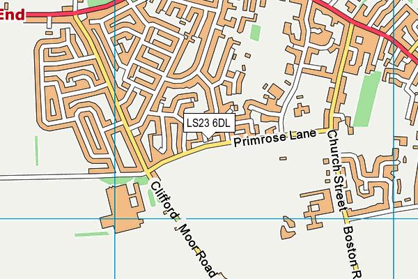 St Edward's Catholic Primary School, Boston Spa map (LS23 6DL) - OS VectorMap District (Ordnance Survey)