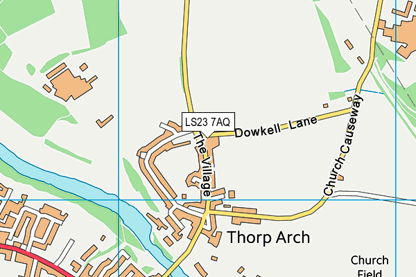 Lady Elizabeth Hastings' CofE VA Primary School, Thorp Arch map (LS23 7AQ) - OS VectorMap District (Ordnance Survey)