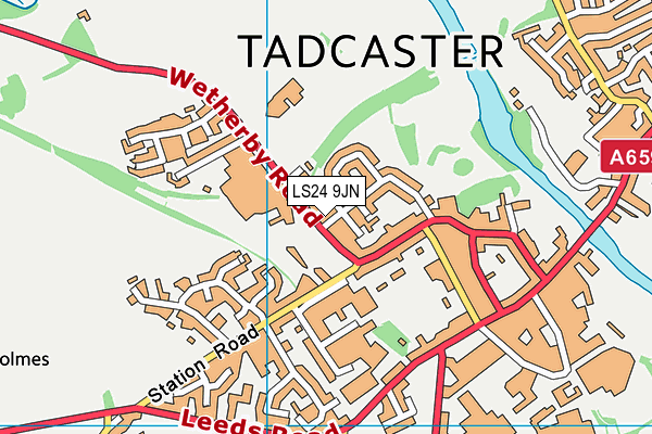 Riverside School, Tadcaster map (LS24 9JN) - OS VectorMap District (Ordnance Survey)