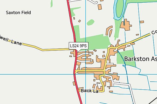 Barkston Ash Catholic Primary School map (LS24 9PS) - OS VectorMap District (Ordnance Survey)