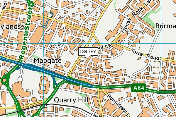 Ebor Gardens Primary Academy map (LS9 7PY) - OS VectorMap District (Ordnance Survey)