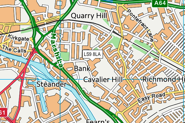 Mount St Mary's Catholic High School map (LS9 8LA) - OS VectorMap District (Ordnance Survey)