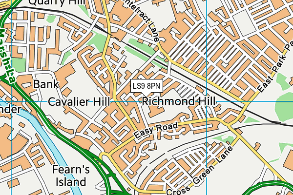 The Richmond Hill Academy map (LS9 8PN) - OS VectorMap District (Ordnance Survey)