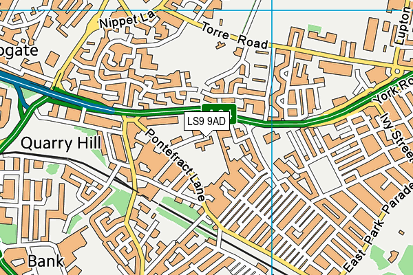 All Saint's Richmond Hill Church of England Primary School map (LS9 9AD) - OS VectorMap District (Ordnance Survey)