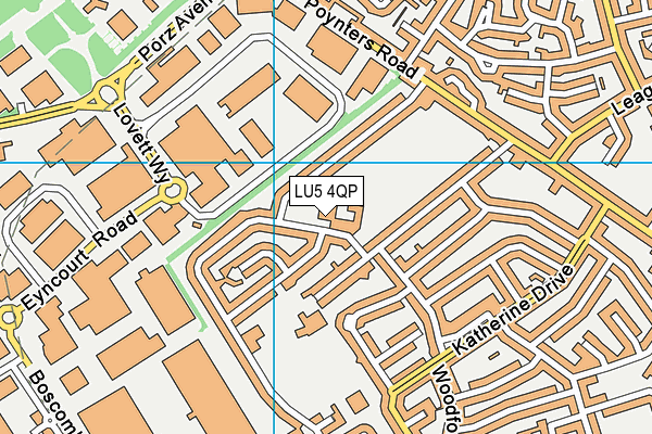 The Vale Academy map (LU5 4QP) - OS VectorMap District (Ordnance Survey)