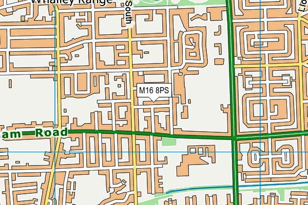 M16 8PS map - OS VectorMap District (Ordnance Survey)