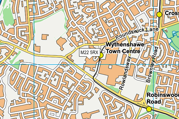 Wythenshawe Forum map (M22 5RX) - OS VectorMap District (Ordnance Survey)
