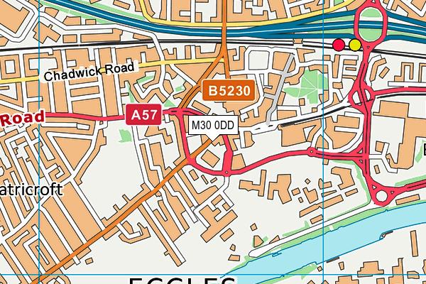 Eccles Leisure Centre map (M30 0DD) - OS VectorMap District (Ordnance Survey)