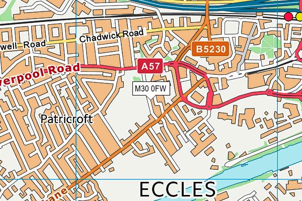 Eccles Recreation Ground map (M30 0FW) - OS VectorMap District (Ordnance Survey)