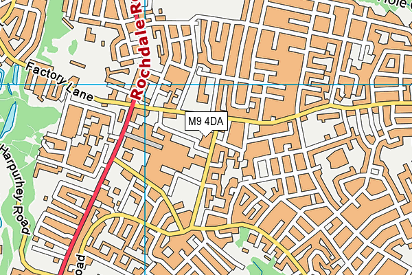 North City Family and Fitness Centre map (M9 4DA) - OS VectorMap District (Ordnance Survey)