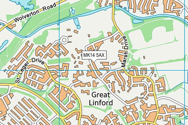 St Andrew's CofE Infant School map (MK14 5AX) - OS VectorMap District (Ordnance Survey)