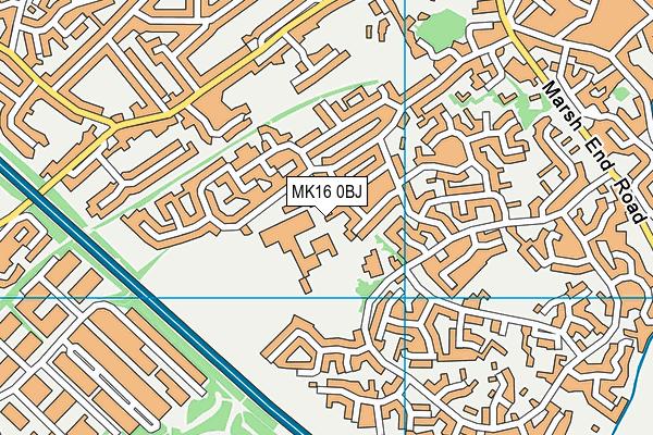 Ousedale School map (MK16 0BJ) - OS VectorMap District (Ordnance Survey)
