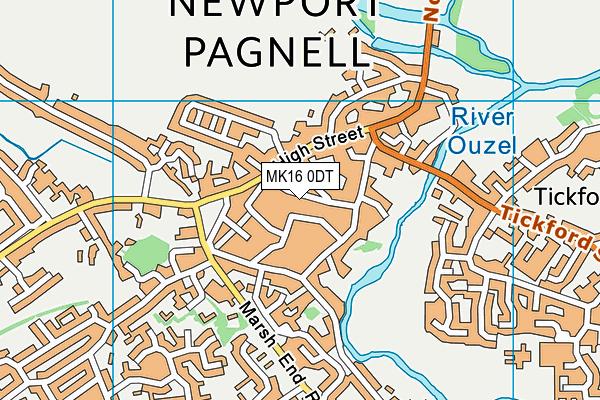 Cedars Primary School map (MK16 0DT) - OS VectorMap District (Ordnance Survey)