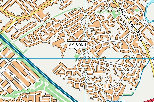 Green Park School map (MK16 0NH) - OS VectorMap District (Ordnance Survey)