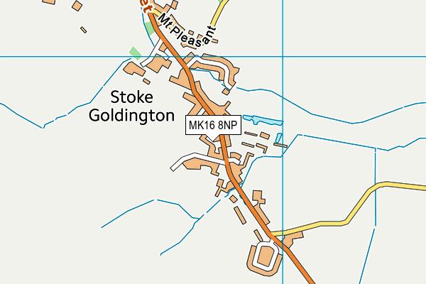 MK16 8NP map - OS VectorMap District (Ordnance Survey)