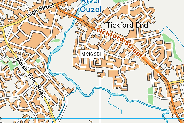 Tickford Park Primary School map (MK16 9DH) - OS VectorMap District (Ordnance Survey)