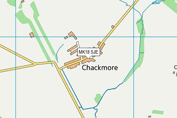 St James and St John CofE Primary School map (MK18 5JE) - OS VectorMap District (Ordnance Survey)