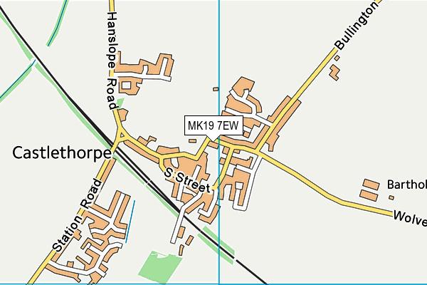 Castlethorpe First School map (MK19 7EW) - OS VectorMap District (Ordnance Survey)