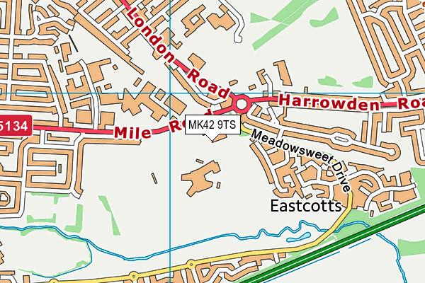 John Bunyan Sports & Fitness map (MK42 9TS) - OS VectorMap District (Ordnance Survey)