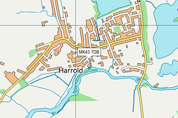 Harrold Primary Academy map (MK43 7DB) - OS VectorMap District (Ordnance Survey)