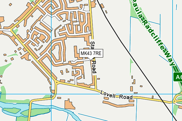 Lincroft Academy map (MK43 7RE) - OS VectorMap District (Ordnance Survey)