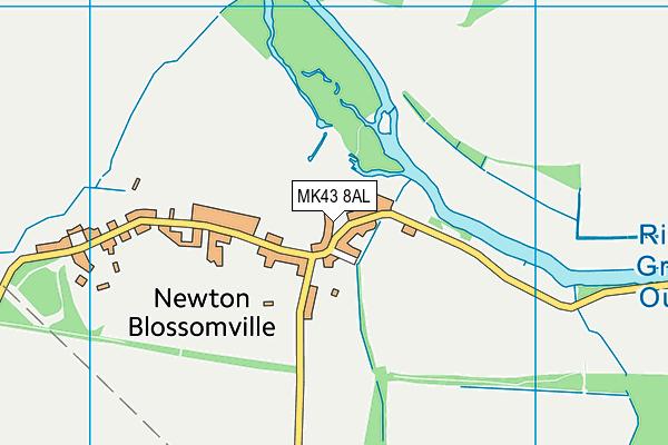 Newton Blossomville Church of England School map (MK43 8AL) - OS VectorMap District (Ordnance Survey)