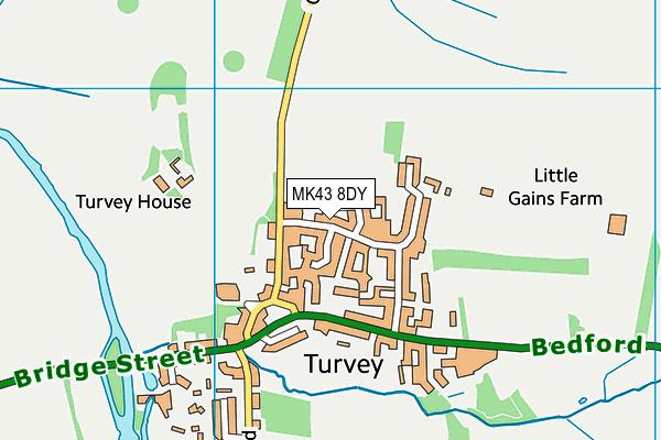 Turvey Primary School map (MK43 8DY) - OS VectorMap District (Ordnance Survey)