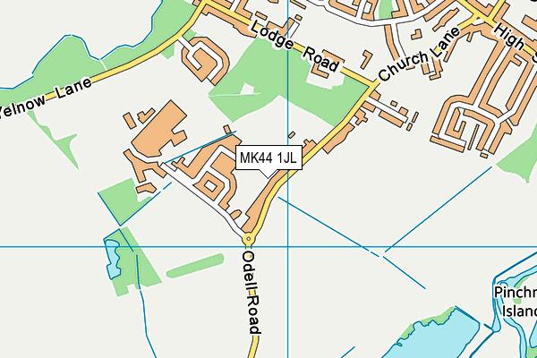 Sharnbrook Academy map (MK44 1JL) - OS VectorMap District (Ordnance Survey)