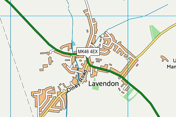 MK46 4EX map - OS VectorMap District (Ordnance Survey)