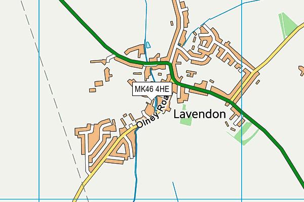 MK46 4HE map - OS VectorMap District (Ordnance Survey)