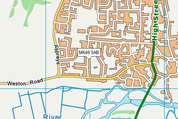 MK46 5AB map - OS VectorMap District (Ordnance Survey)