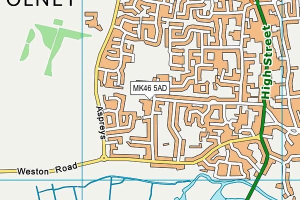 MK46 5AD map - OS VectorMap District (Ordnance Survey)