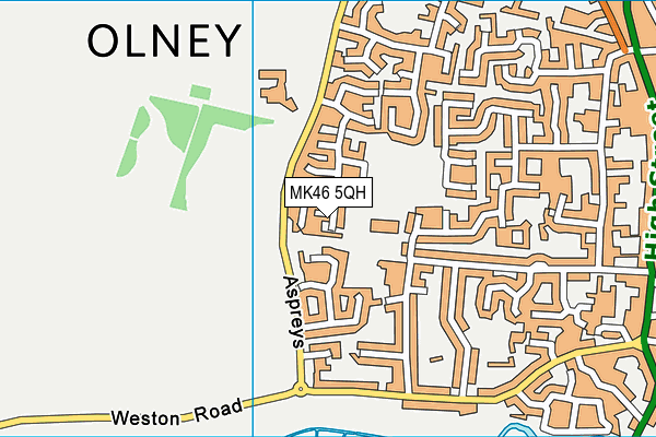 MK46 5QH map - OS VectorMap District (Ordnance Survey)