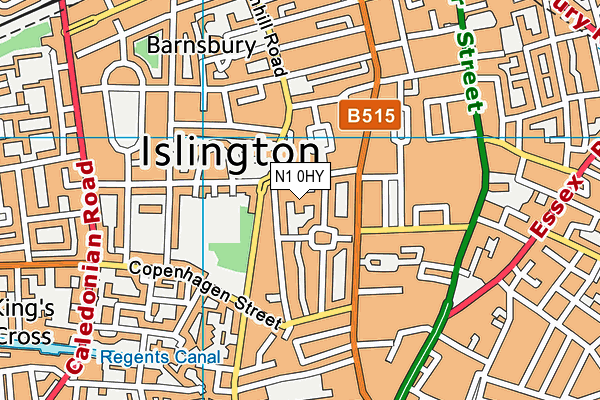 The Bridge Integrated Learning Space map (N1 0HY) - OS VectorMap District (Ordnance Survey)