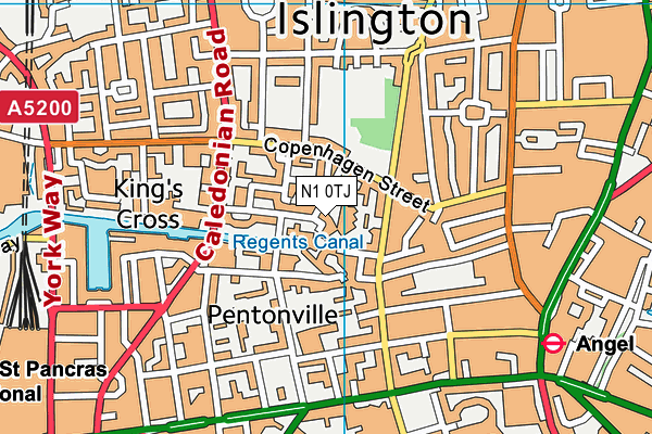 Vittoria Primary School map (N1 0TJ) - OS VectorMap District (Ordnance Survey)