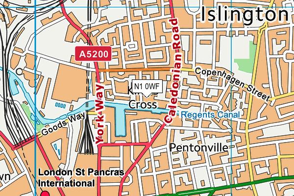 City of London Primary Academy, Islington map (N1 0WF) - OS VectorMap District (Ordnance Survey)