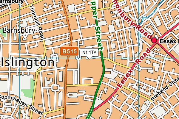 N1 1TA map - OS VectorMap District (Ordnance Survey)