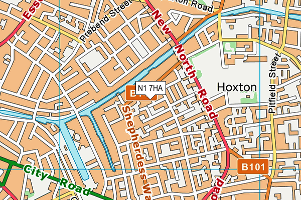 Thomas Fairchild Community School map (N1 7HA) - OS VectorMap District (Ordnance Survey)