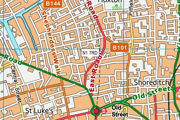 New Regent's College map (N1 7RD) - OS VectorMap District (Ordnance Survey)
