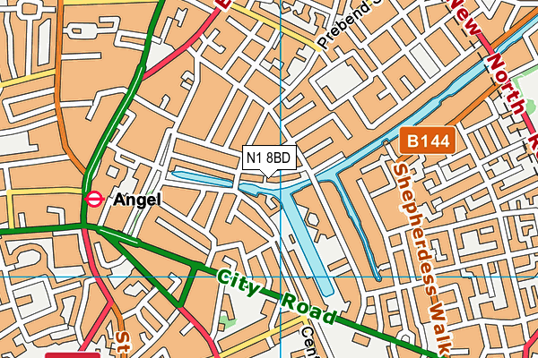 N1 8BD map - OS VectorMap District (Ordnance Survey)