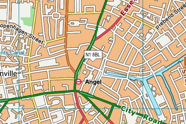 N1 8BL map - OS VectorMap District (Ordnance Survey)