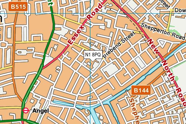 City of London Academy Islington map (N1 8PQ) - OS VectorMap District (Ordnance Survey)