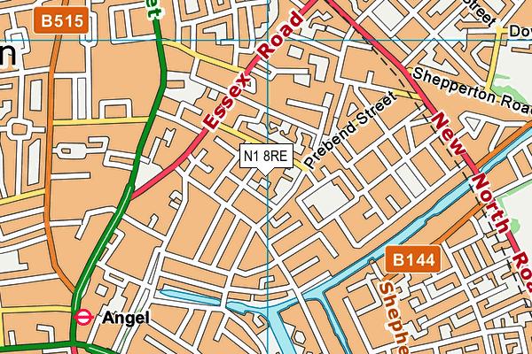 Richard Cloudesley School map (N1 8RE) - OS VectorMap District (Ordnance Survey)